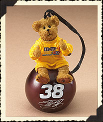 Elliott Sadler Ornament Ball Boyds Bear