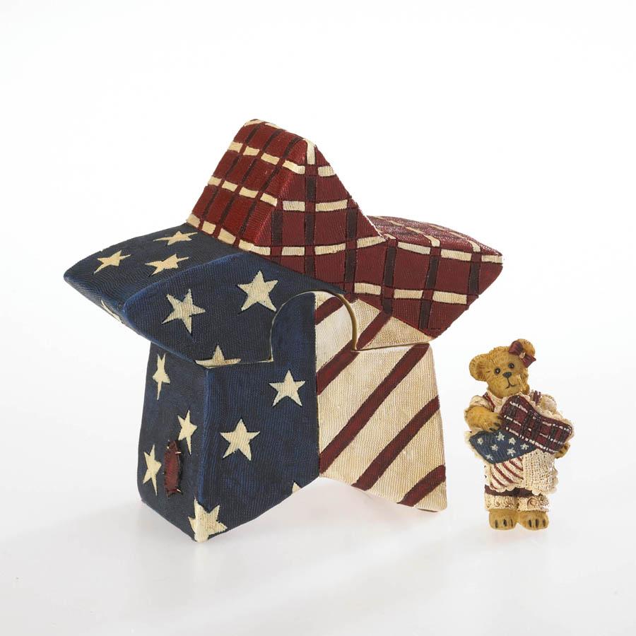 Emma Spangler's Patriotic Puzzle Box Boyds Bear