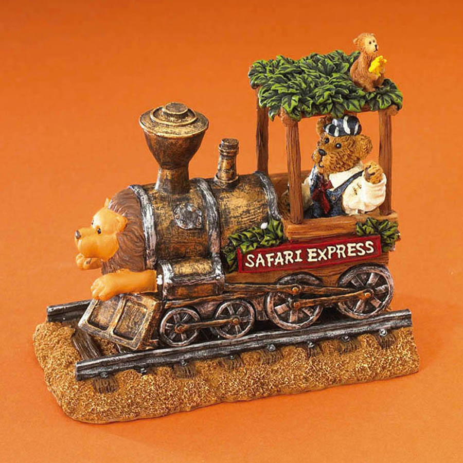 Ernest The Engineer And The Safari Express Locomotive...all Aboard! Boyds Bear