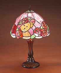 Evening Rose Tiffany Style Lamp Boyds Bear
