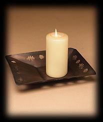 Fall Foliage Candle Plate Boyds Bear