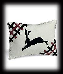 Folk Art Rabbit Cushion Cover Boyds Bear