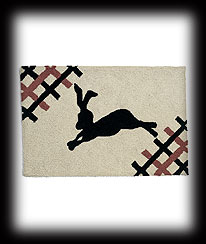 Folk Art Rabbit Rug Boyds Bear