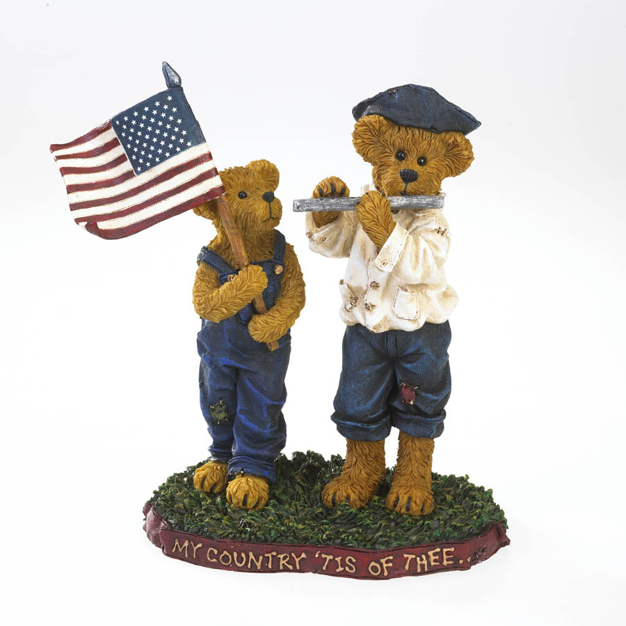 Frances T. Proudbeary With Patrick Henry... My Country 'tis Of Thee Boyds Bear