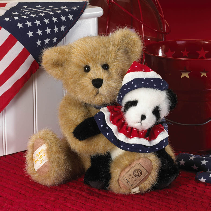 Frankie With Ben... Patriotic Pals Boyds Bear