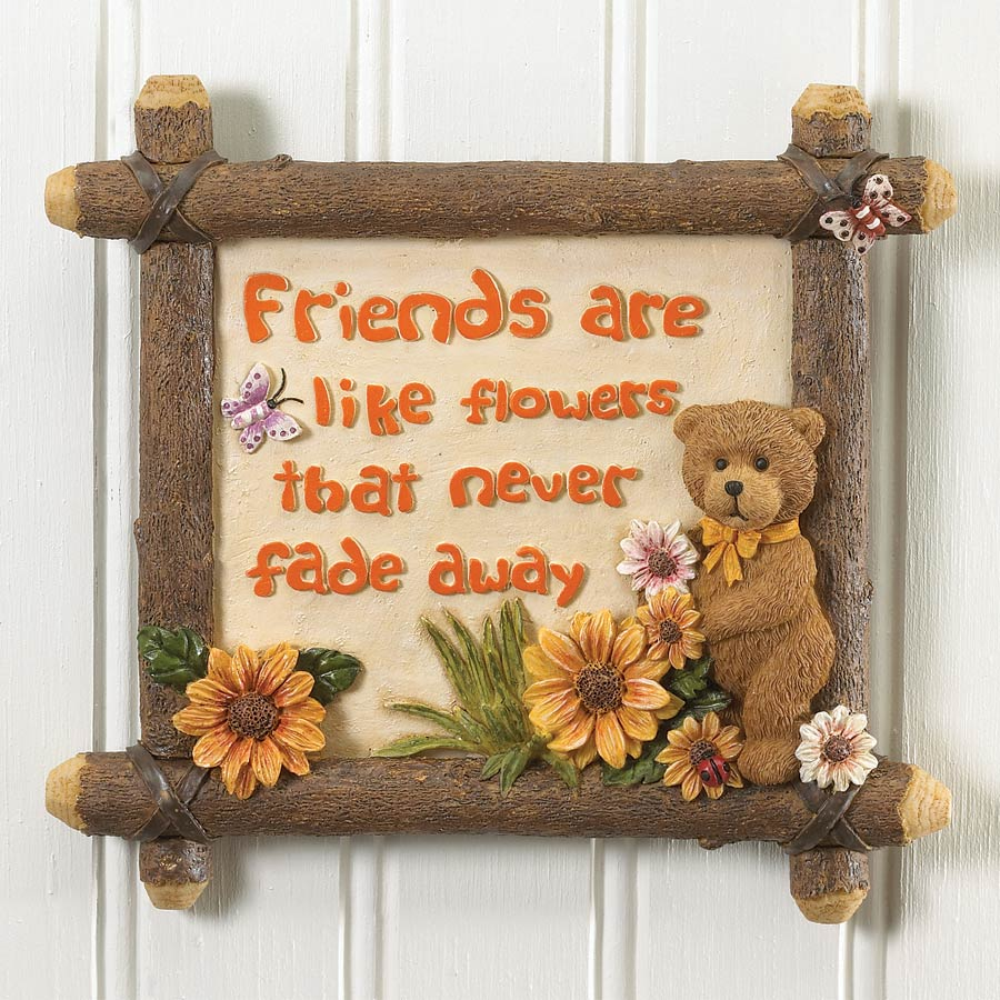 Friends Are Like Flowers Wall Tile Boyds Bear