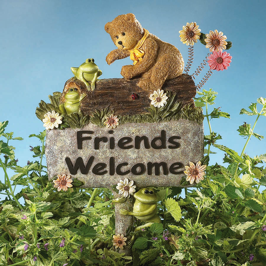 Friends Welcome Garden Stake Boyds Bear