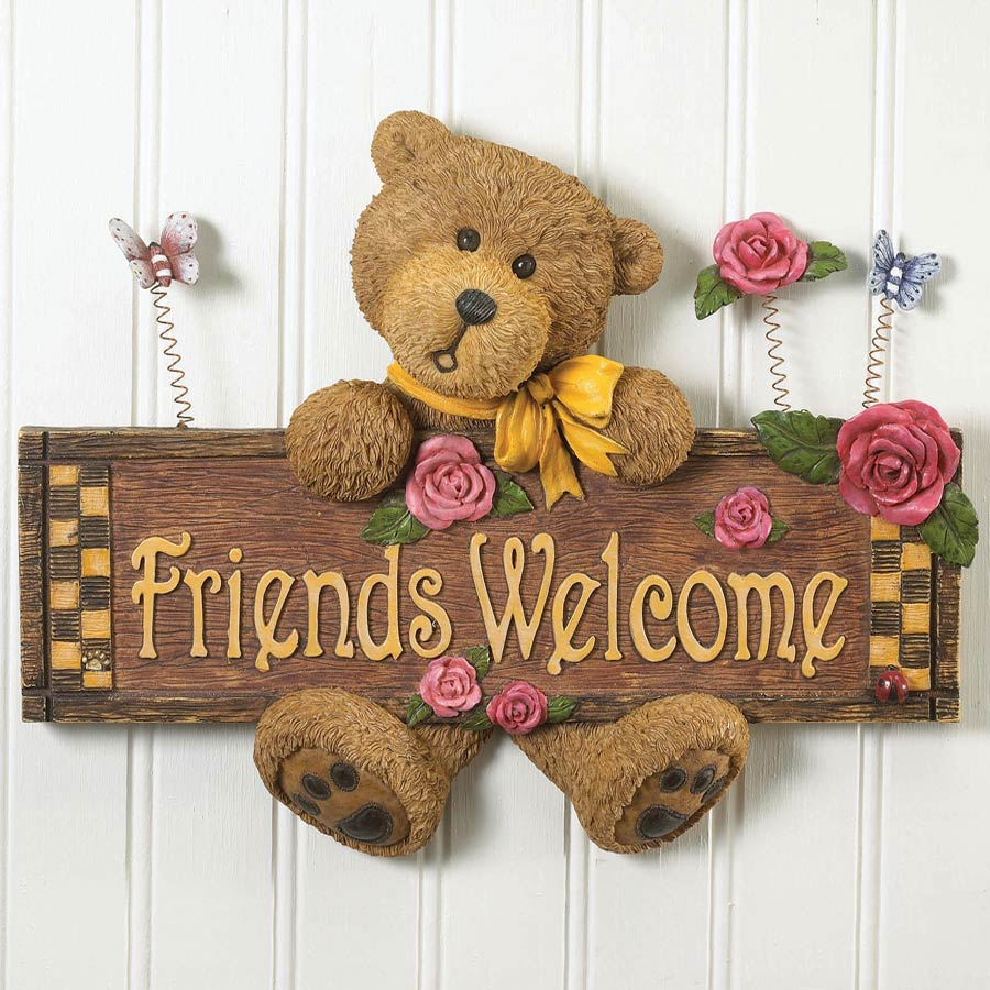 Friends Welcome Wall Decor Boyds Bear