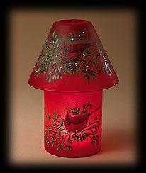 Glass Cardinal Candle Lamp Boyds Bear