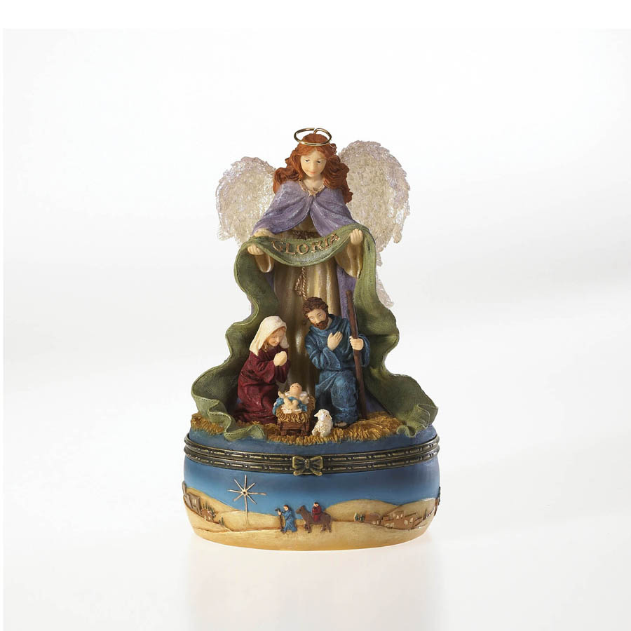 Gloria...guardian Of The Nativity Keepsake Box Boyds Bear