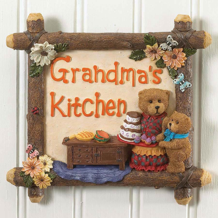 Grandma's Kitchen Wall Tile Boyds Bear