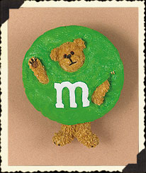 Green M&m's® Pin Boyds Bear