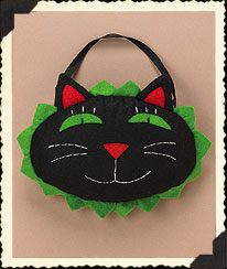 Halloween Cat Face Door Pillow Boyds Bear