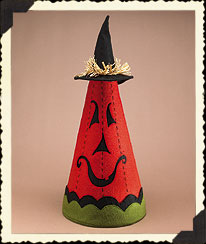 Halloween Pumpkin Cone Boyds Bear