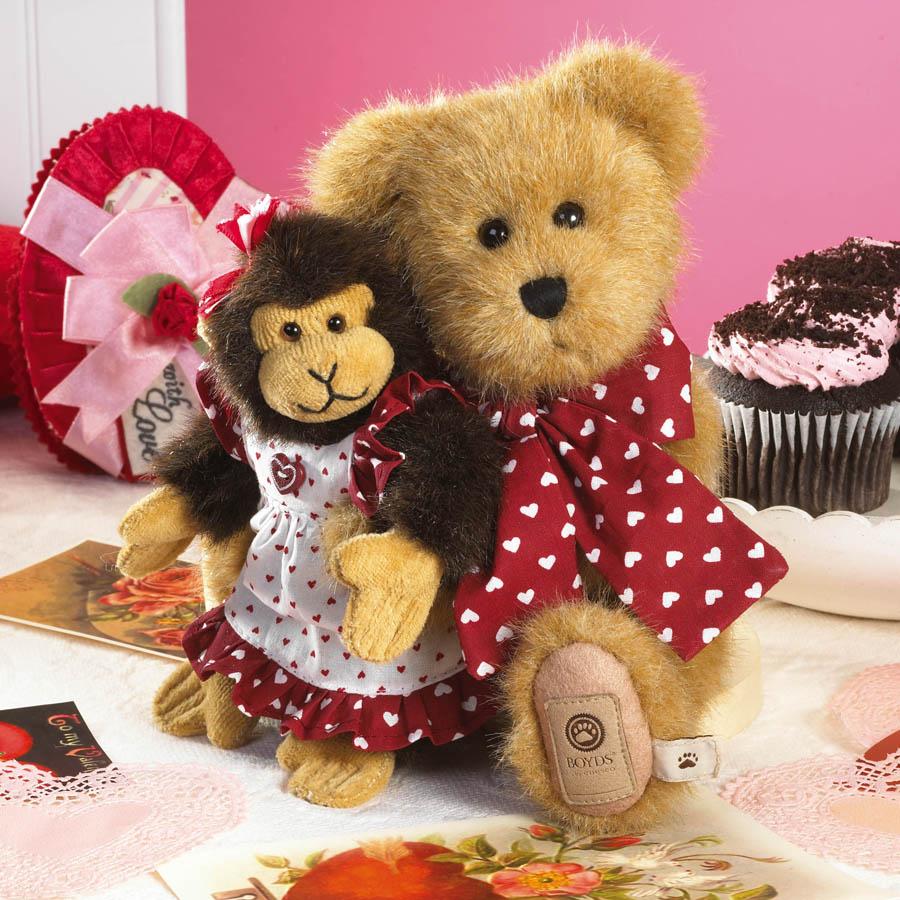 Heartley With Julia... Monkey Business Boyds Bear