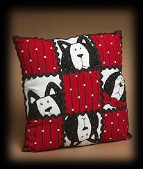 Here Kitty Applique Pillow Boyds Bear