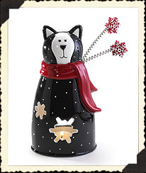 Here Kitty Snowflake Votive Boyds Bear