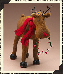 Holiday Homestead Felt Reindeer Boyds Bear