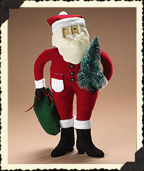 Holiday Homestead Felt Santa Boyds Bear
