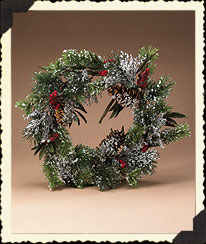 Holiday Homestead Iced Wreath Boyds Bear