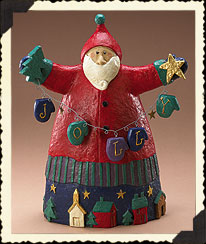 Holiday Homestead Jolly Santa Boyds Bear