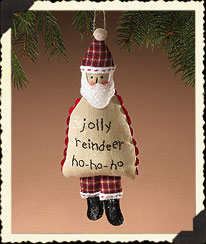 Holiday Homestead Santa Ornament Boyds Bear