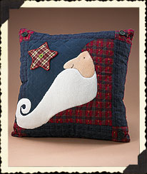 Holiday Homestead Santa Pillow Boyds Bear