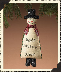 Holiday Homestead Snowman Ornament Boyds Bear
