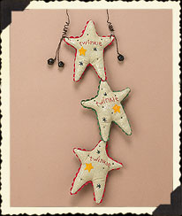 Holiday Homestead Stars Door Hanging Boyds Bear