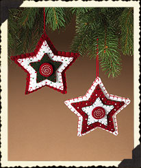 Homespun Felt Star Ornaments Boyds Bear