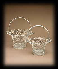 Ivory French Wire Baskets Boyds Bear