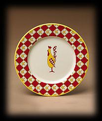 Jake & Judi Stoneware Rooster Plate Boyds Bear