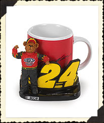Jeff Gordon Mug & Holder Boyds Bear
