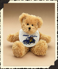Jimmie Johnson Baby Bib Bear Boyds Bear