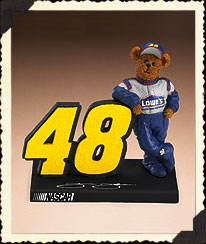 Jimmie Johnson Figurine Boyds Bear
