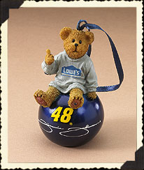 Jimmie Johnson Ornament Ball Boyds Bear