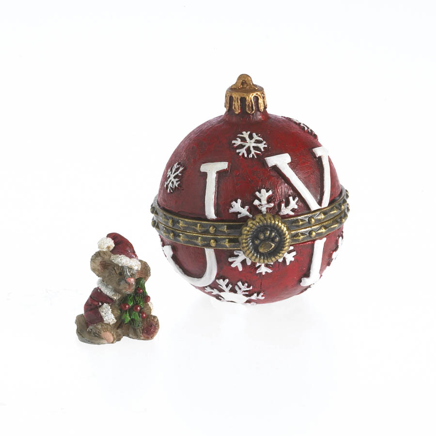 Joy's Christmas Ornament With Spruce Mcnibble Boyds Bear