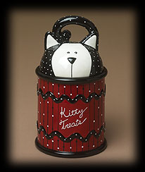 Kitty Treat Jar Boyds Bear