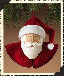 Kringlebeary Papier-mach Santa Ornament Boyds Bear