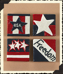 Let Freedom Ring Magnets Boyds Bear