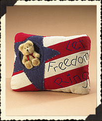 Let Freedom Ring Pillow With Bear Boyds Bear