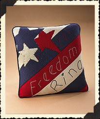 Let Freedom Ring Pillow Boyds Bear