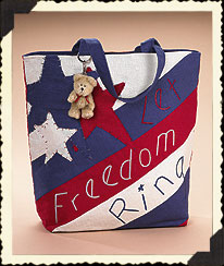 Let Freedom Ring Tote Bag Boyds Bear