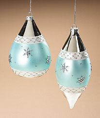 Let It Snow Glass Ornament Set Boyds Bear
