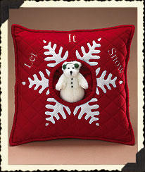 Let It Snow Snowflake Pillow Boyds Bear