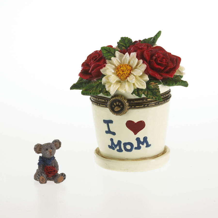 Lil Junior's Flowerpot With Petal Mcnibble Boyds Bear