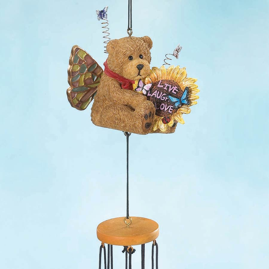 Live Laugh Love Wind Chime Boyds Bear