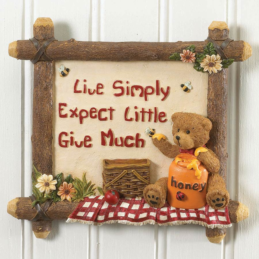 Live Simply Wall Tile Boyds Bear