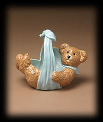 Lullabye Blue Bear Basket Boyds Bear