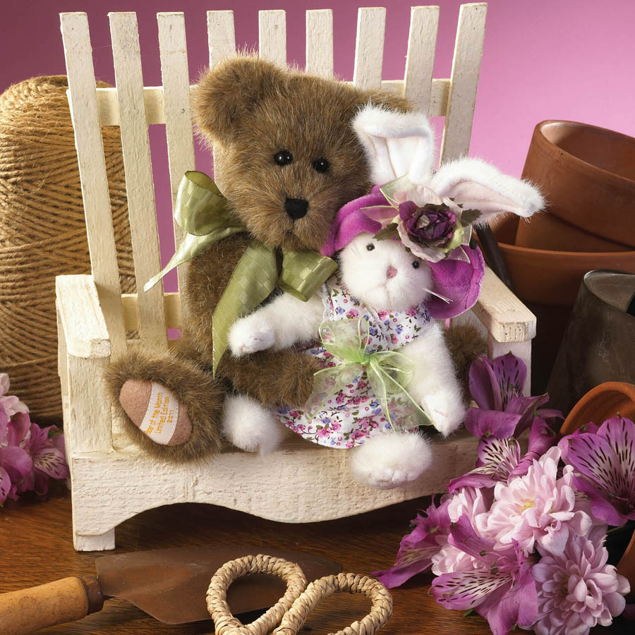 Mimsy With Bunnykins... Springtime Friends Boyds Bear